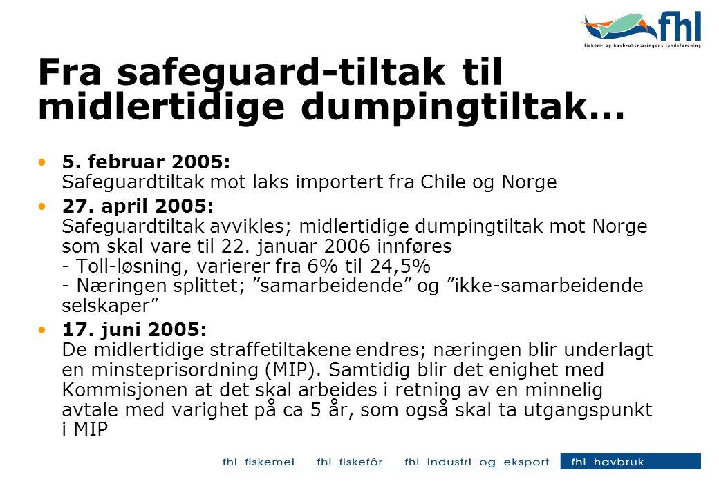 Fra safeguard-tiltak til midlertidige dumpingtiltak… •5.