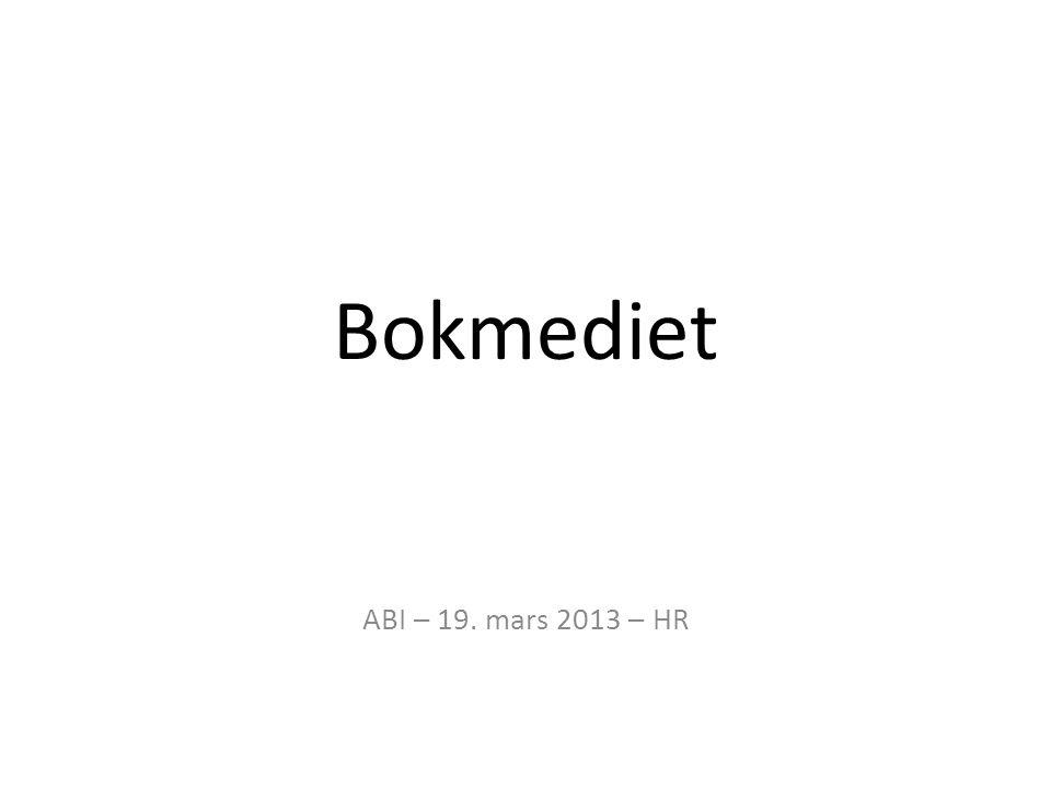 Bokmediet ABI – 19. mars 2013 – HR