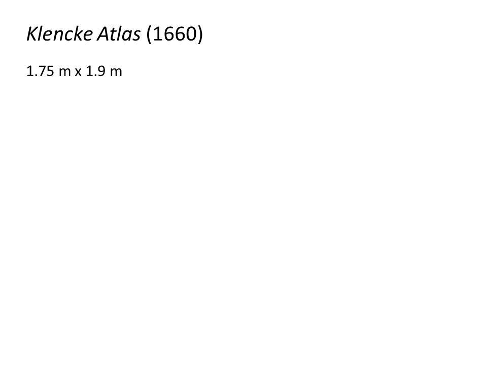 Klencke Atlas (1660) 1.75 m x 1.9 m