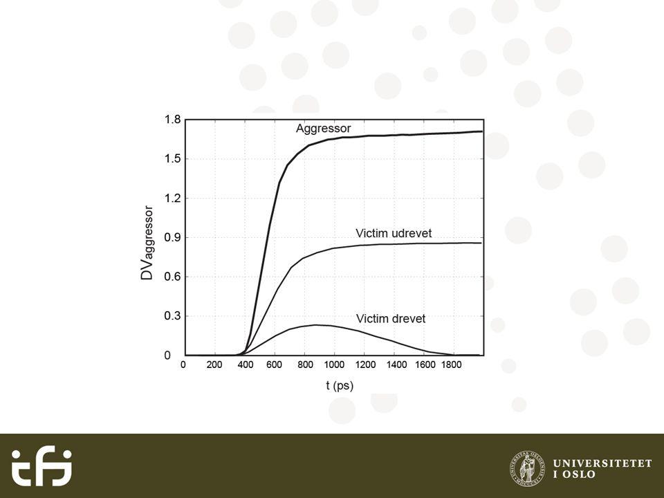 Induktans Indusert spenning: Tidsforsinkelse (lys): Hastighet (lys): Induktans:Skinn dybde: Eksempel: Finn skinn dybden for signaler med 100ps i en kobber leder (  =1.7e-8  m).