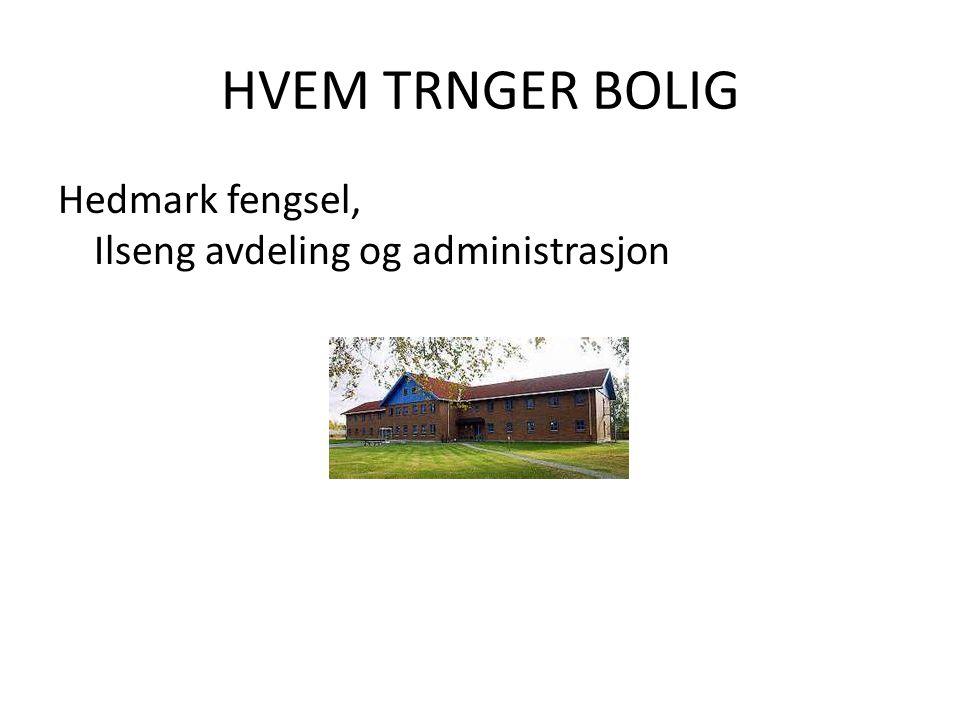 HVEM TRNGER BOLIG Hedmark fengsel, Ilseng avdeling og administrasjon