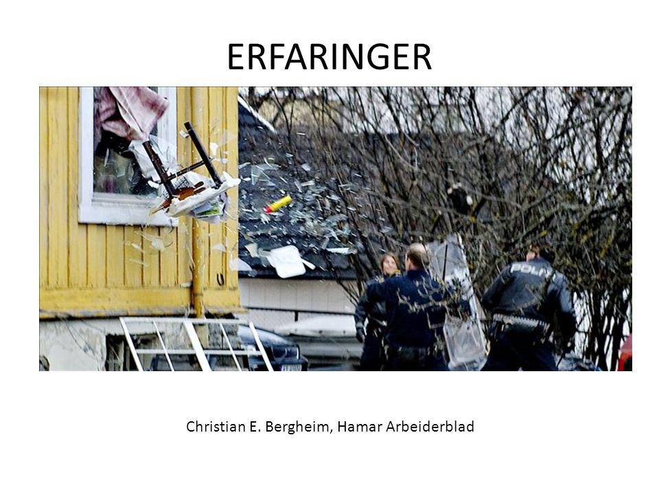 Christian E. Bergheim, Hamar Arbeiderblad