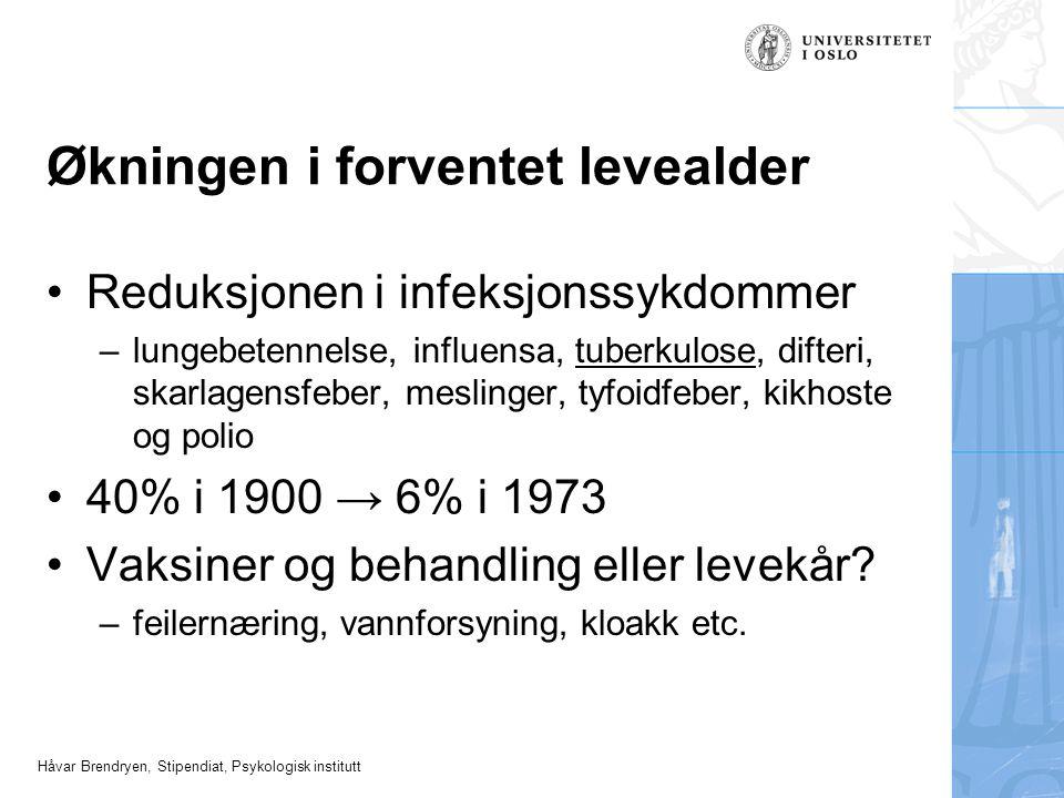 Håvar Brendryen, Stipendiat, Psykologisk institutt