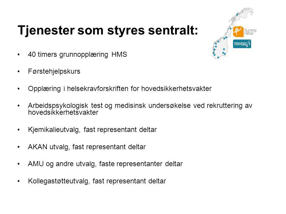 Krisehåndtering Døgnkontinuerlig telefon 24/7/365 hvor det tilbys psykologisk krisehåndtering (betjenes av Falck Healthcare Norge).