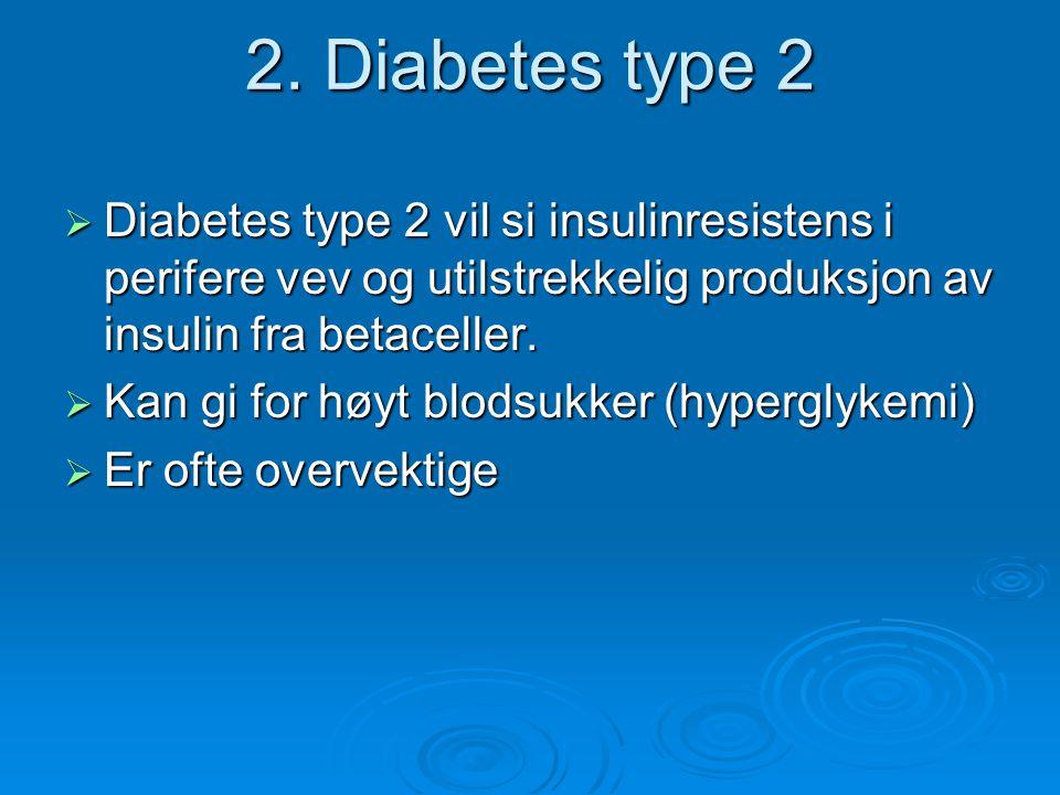 Mosjon og diabetes type 2  Lett og moderat høyt blodtrykk kan bekjempes  Gunstigere fettprofil  Bedrer følsomheten for insulin  Økt energiforbruk > mindre kroppsmasse, bevarer muskelmasse  Økt velvære og livskvalitet Trening sammen med fornuftig kosthold og eventuell medikamentell behandling gir resultater.
