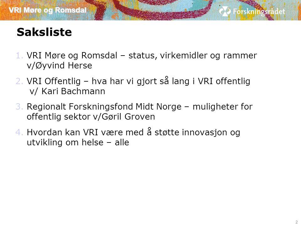 VRI Møre og Romsdal Handlingsplan «samspill i helse» 2014 13