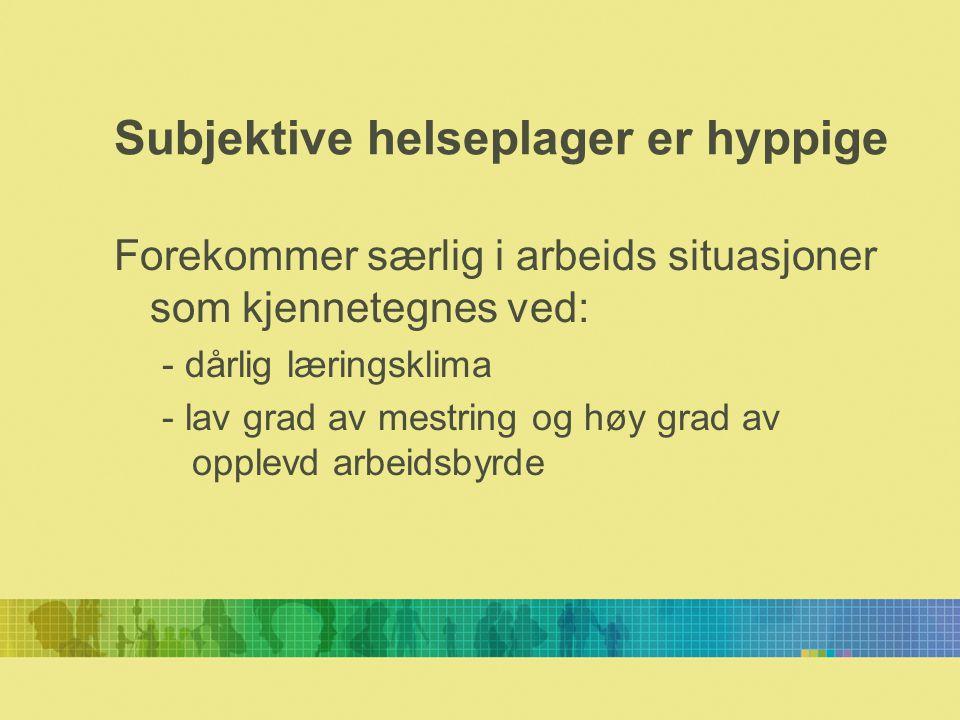 Muskelsmerter Eriksen, H.R., and Ursin, H.