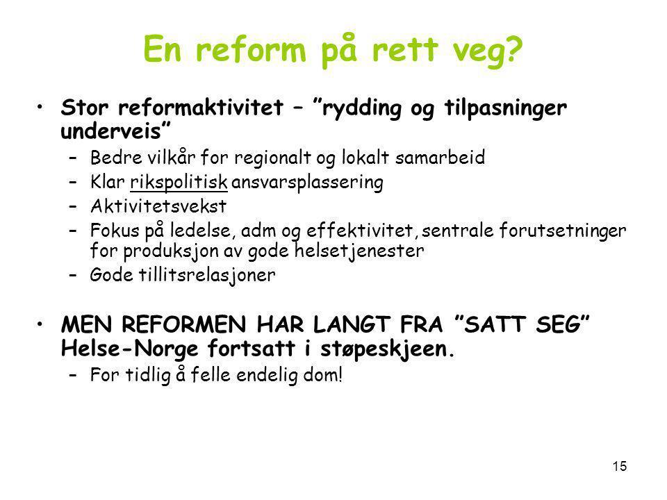 15 En reform på rett veg.