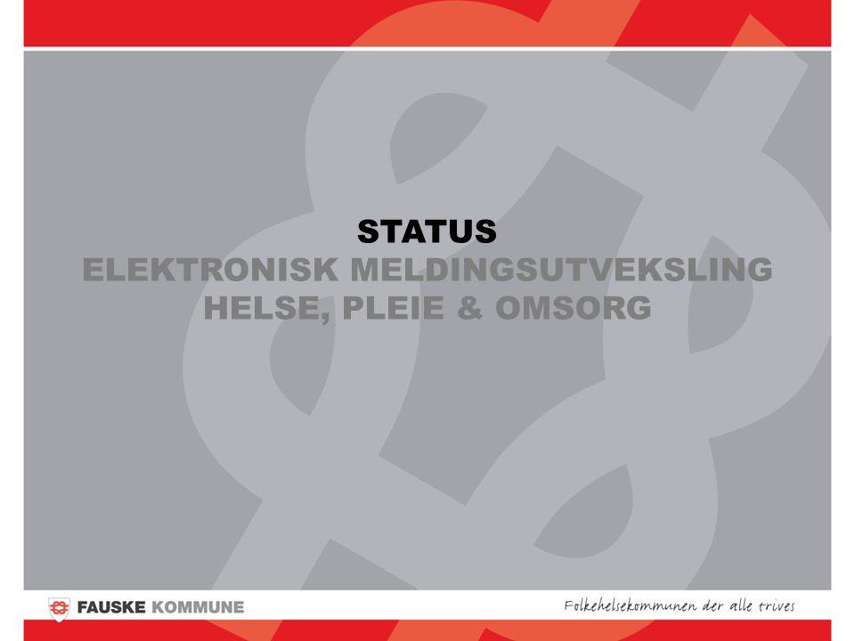 STATUS ELEKTRONISK MELDINGSUTVEKSLING HELSE, PLEIE & OMSORG