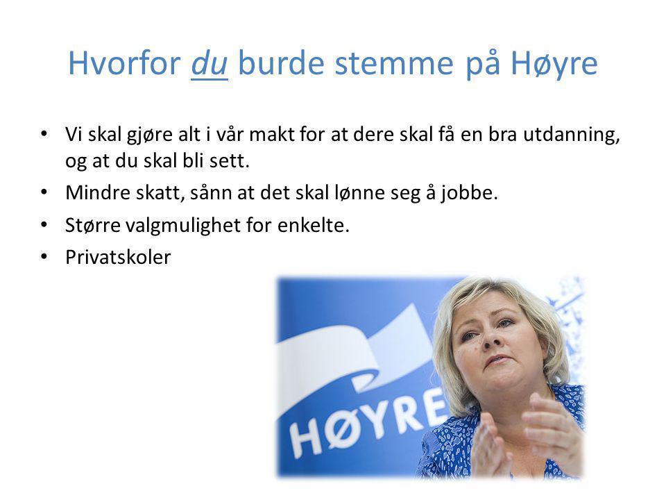 Organisasjoner innen Høyre • Unge Høyres landsforbund • Høyres studentforbund.