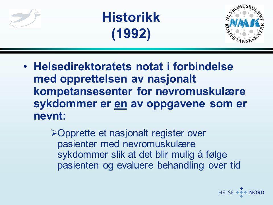 •Oppnevnt gruppe med deltagere RH og UNN som skulle dele landsfunksjonen •Ingen egen prosjektorganisasjon etablert • Venstrehåndsarbeid i tillegg til eksisterende arbeidsoppgaver Historikk (1994)
