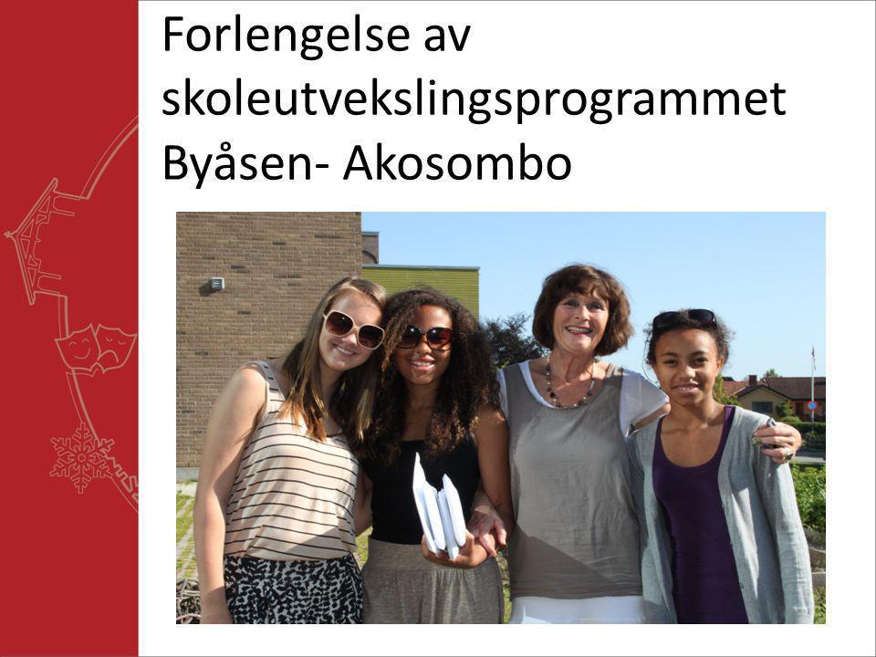 Forlengelse av skoleutvekslingsprogrammet Byåsen- Akosombo