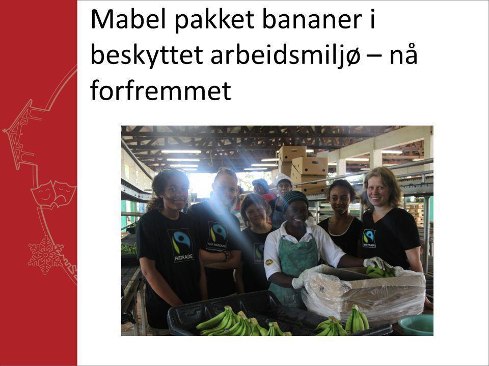 Mabel pakket bananer i beskyttet arbeidsmiljø – nå forfremmet