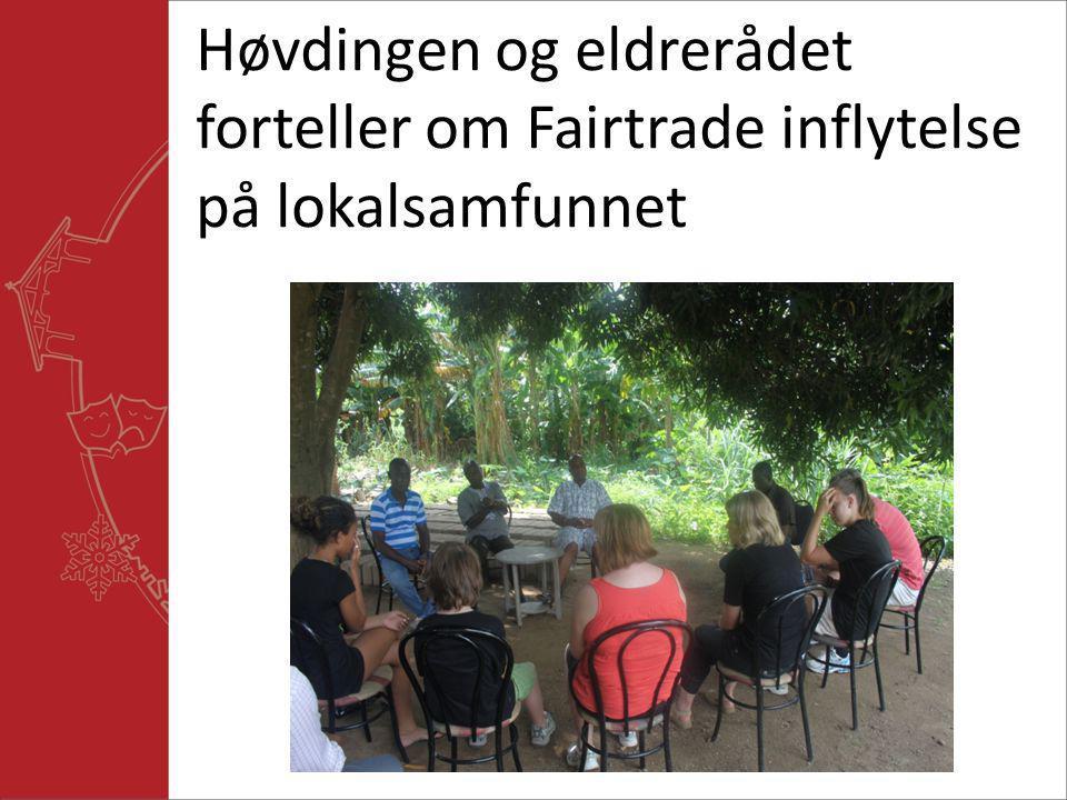 Høvdingen og eldrerådet forteller om Fairtrade inflytelse på lokalsamfunnet