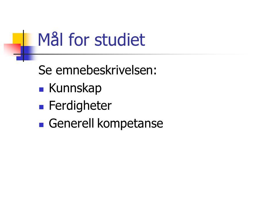 Om studiet Norsk 101 (5-10) er konsentrert om tre fagområde:  Lesing og leseopplæring  Litteratur og litteraturdidaktikk  Munnleg opplæring