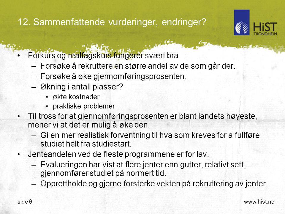 www.hist.noside 6 12.Sammenfattende vurderinger, endringer.