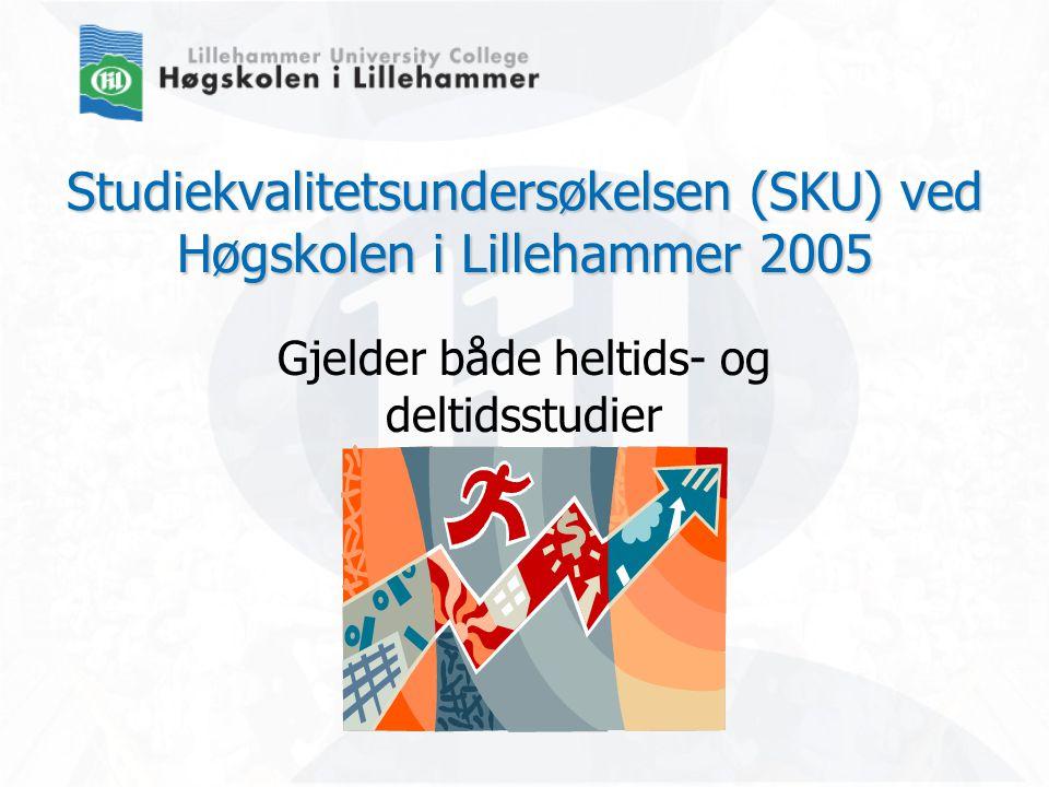 Studiekvalitetsundersøkelsen (SKU) ved Høgskolen i Lillehammer 2005 Gjelder både heltids- og deltidsstudier