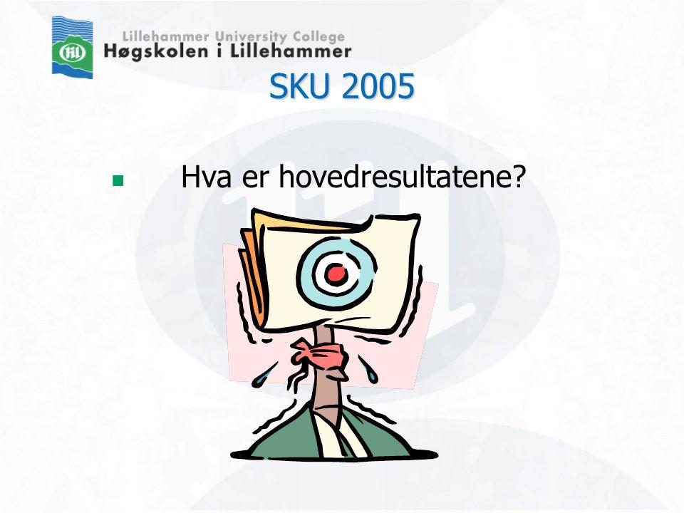 SKU 2005  Hva er hovedresultatene?