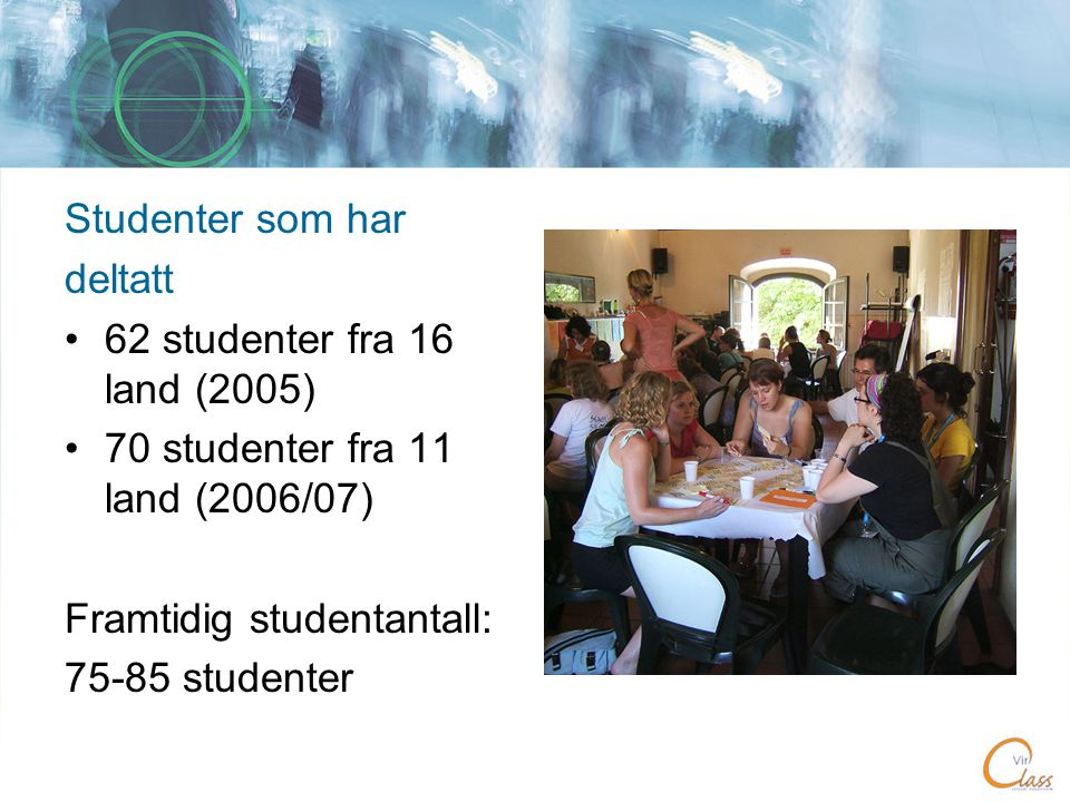 Studenterfaringer • E-learning is an exciting new study method, I am glad I had the opportunity to take part in this course • I found this course really interesting because I learned much more than I knew before about social work in other European countries