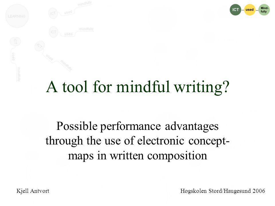 Et verktøy for bevisst skriving.