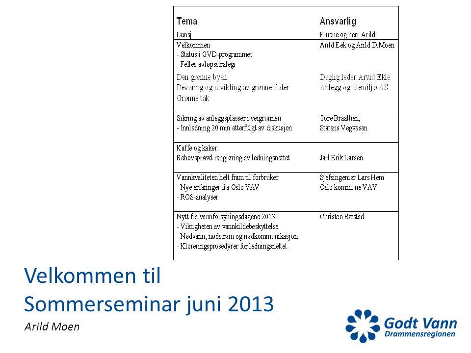 Arild Moen Velkommen til Sommerseminar juni 2013