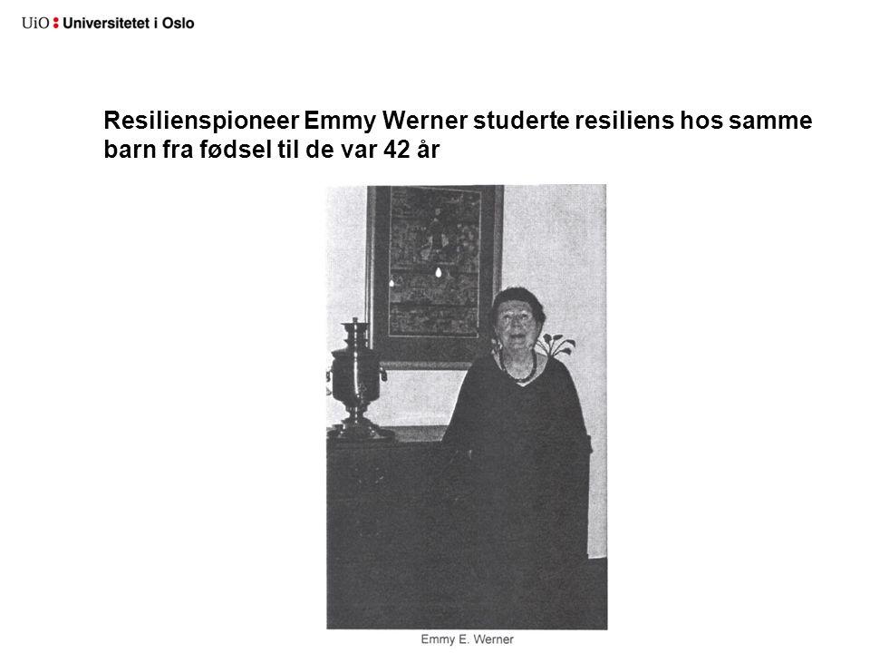 Resilienspioneer Emmy Werner studerte resiliens hos samme barn fra fødsel til de var 42 år