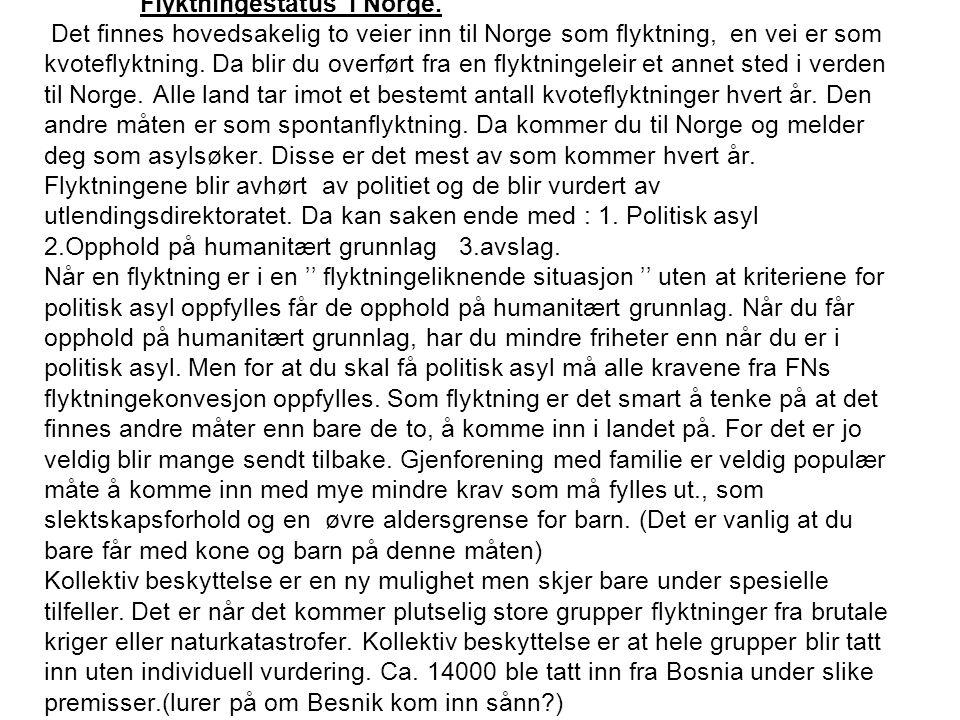 Flyktningestatus i Norge.