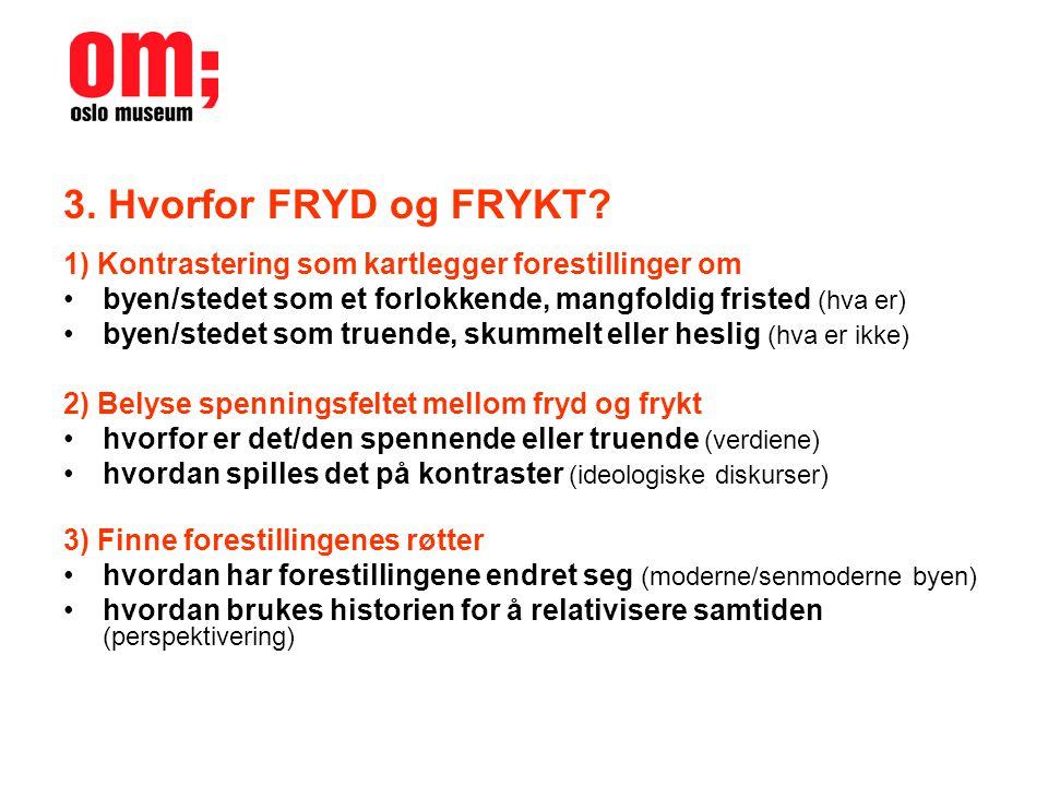 3.Hvorfor FRYD og FRYKT.
