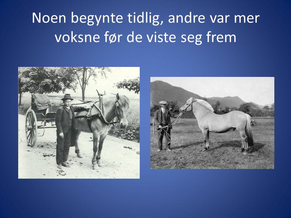 Men alle utviklet godt hestevett