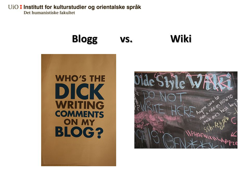 Blogg vs. Wiki