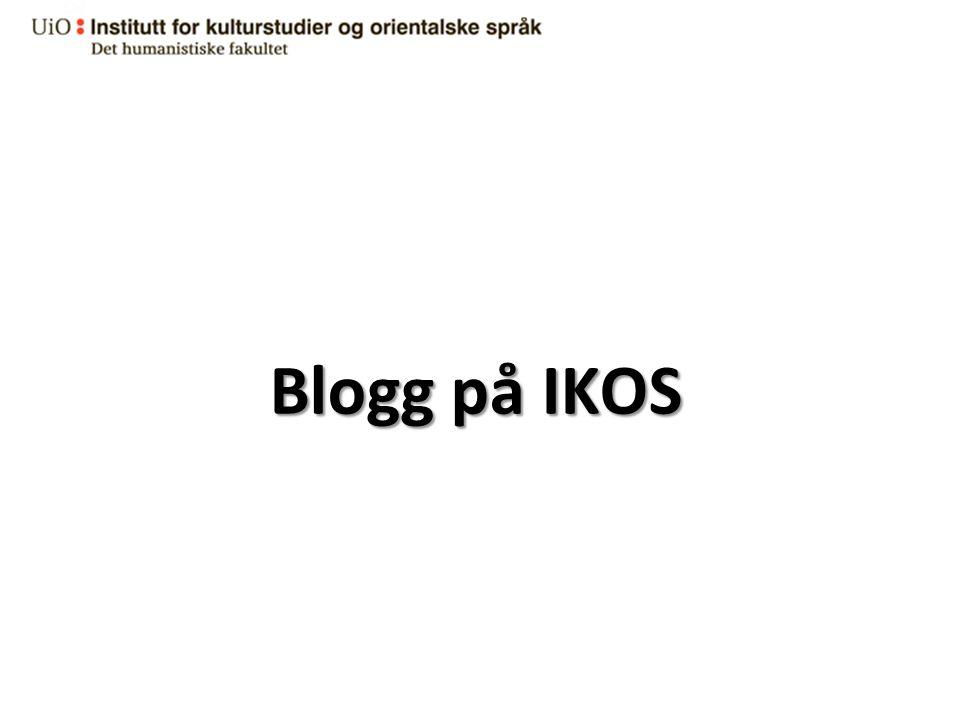 Blogg på IKOS