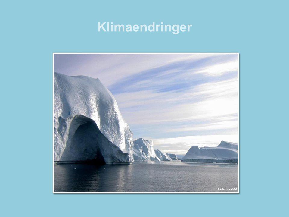 Klimaendringer •Klimaendringer er endringer i jordens gjennomsnittsvær over et lengre tidsrom.
