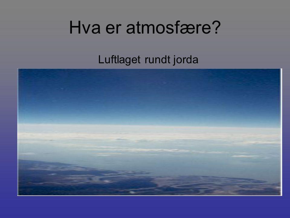 Hva består atmosfæren av.