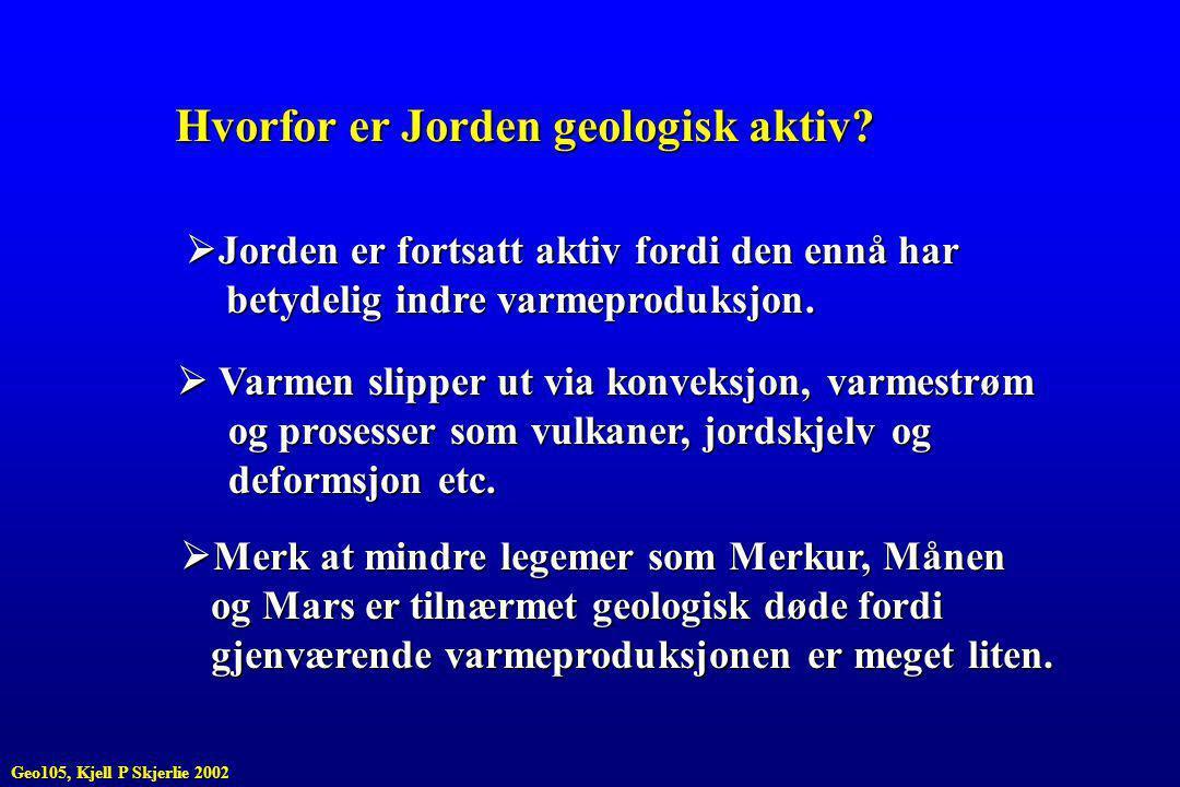 Hvorfor er Jorden geologisk aktiv.