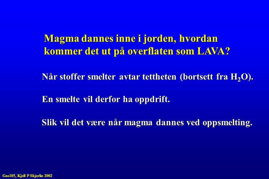 Magma dannes inne i jorden, hvordan kommer det ut på overflaten som LAVA.