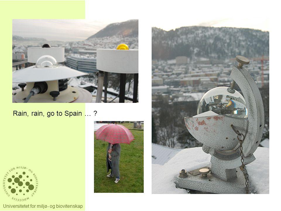 Universitetet for miljø- og biovitenskap Rain, rain, go to Spain … ?