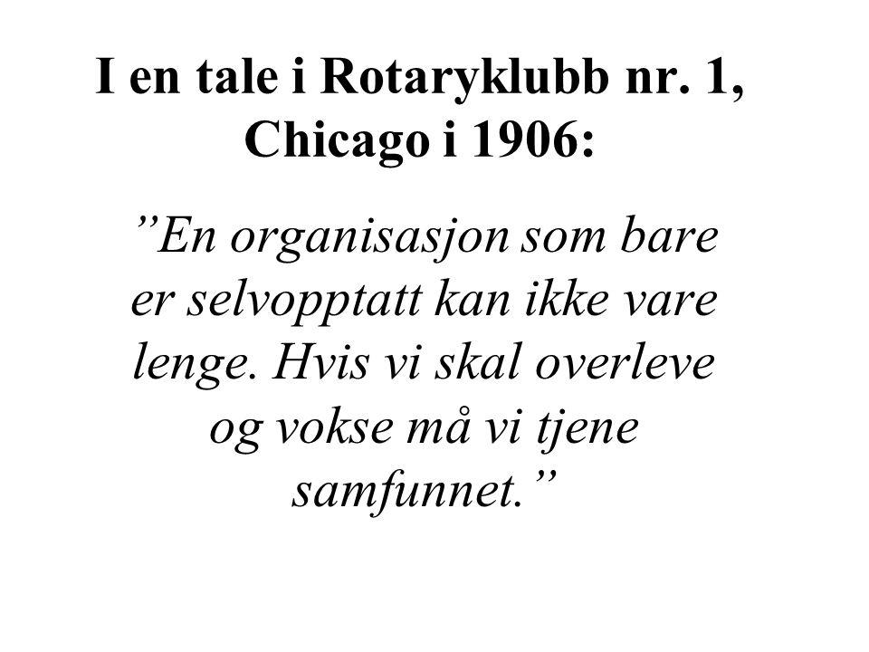 I en tale i Rotaryklubb nr.