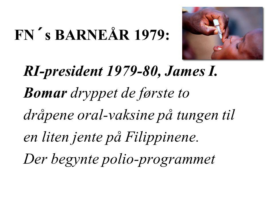 FN´s BARNEÅR 1979: RI-president 1979-80, James I.