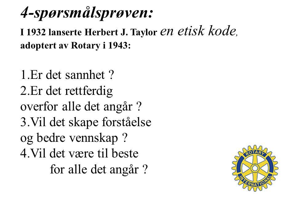 4-spørsmålsprøven: I 1932 lanserte Herbert J.