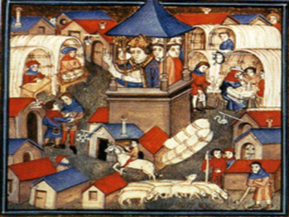 Føydalisme  Godseieren kunne straffe leilendingene dersom de brøt hans lover  Bønder som levde under slike forhold ble kalt livegne  Landsbyen ble stedet der bondefamiliene samlet seg