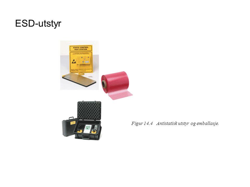 ESD-utstyr Figur 14.4Antistatisk utstyr og emballasje.