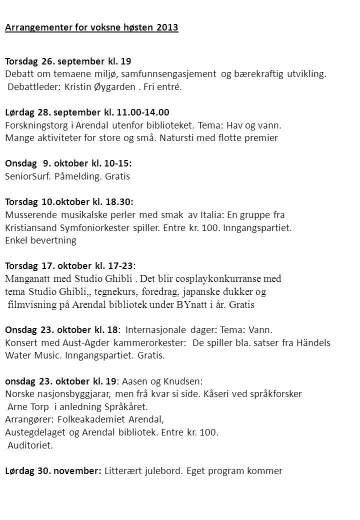 Torsdag 26.september kl. 19 Debatt om temaene miljø, samfunnsengasjement og bærekraftig utvikling.