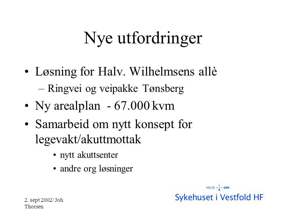 2. sept 2002/ Joh Thorsen Nye utfordringer •Løsning for Halv.