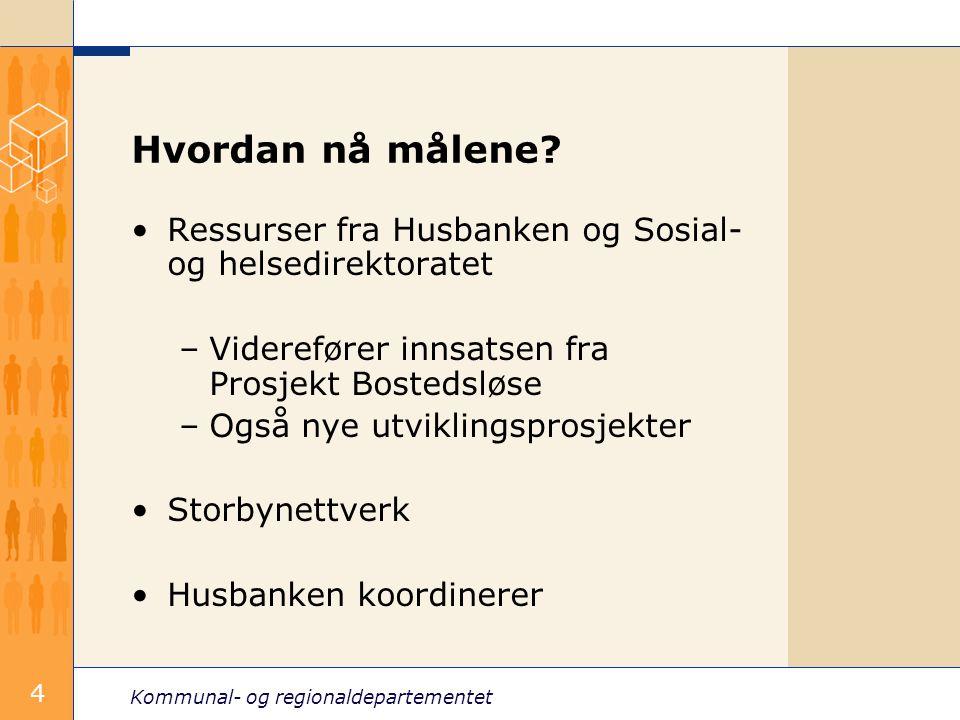 Kommunal- og regionaldepartementet 4 Hvordan nå målene.