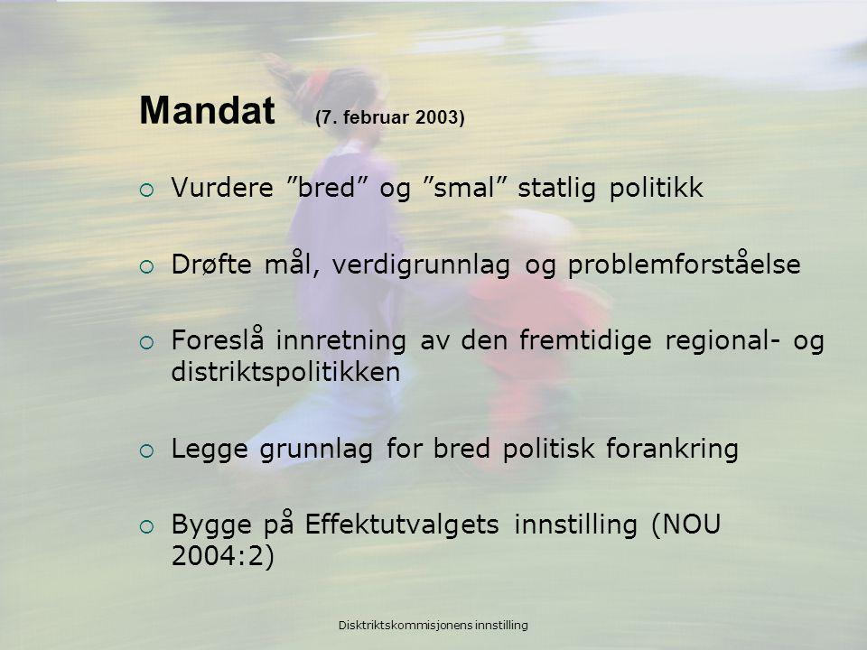 Disktriktskommisjonens innstilling Mandat (7.