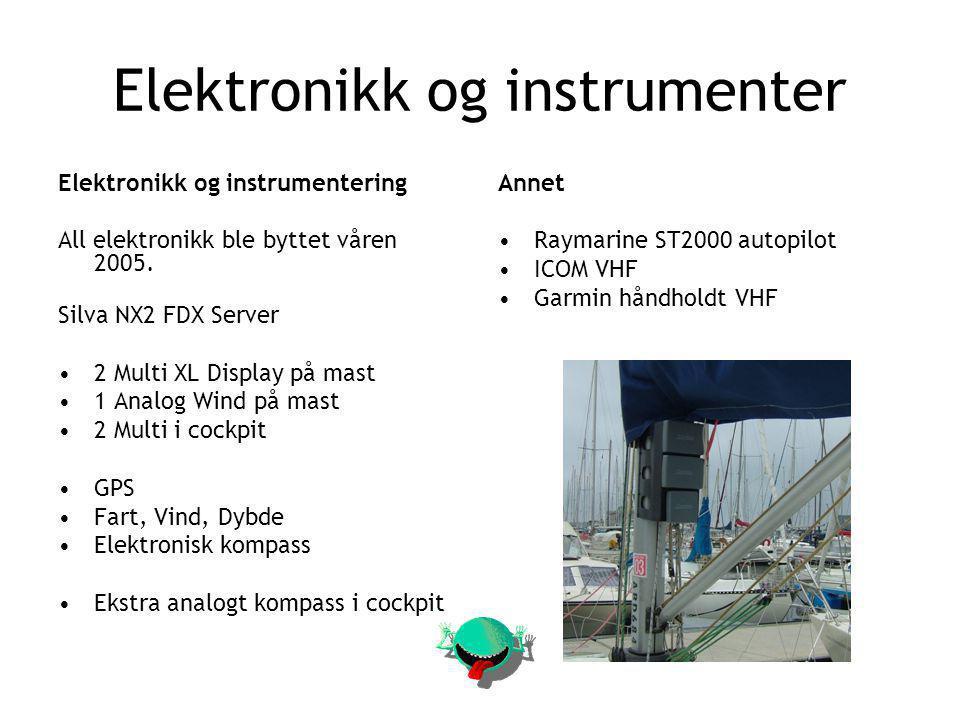 Elektronikk og instrumenter Elektronikk og instrumentering All elektronikk ble byttet våren 2005.