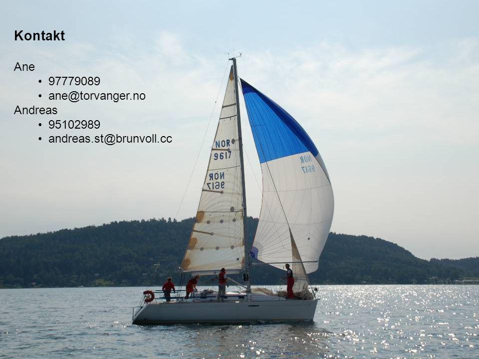 Kontakt Ane • 97779089 • ane@torvanger.no Andreas • 95102989 • andreas.st@brunvoll.cc