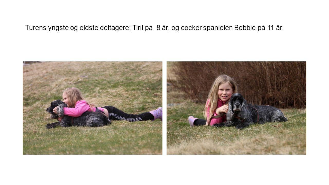 Turens yngste og eldste deltagere; Tiril på 8 år, og cocker spanielen Bobbie på 11 år.