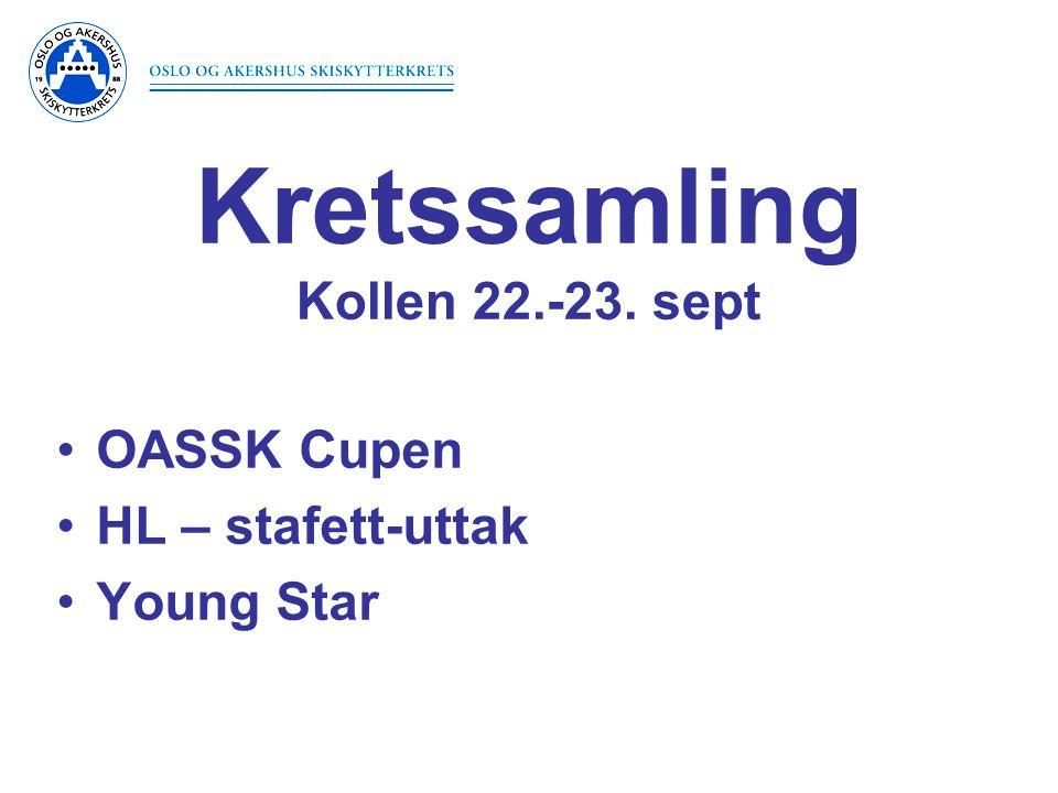 •OASSK Cupen •HL – stafett-uttak •Young Star Kretssamling Kollen 22.-23. sept