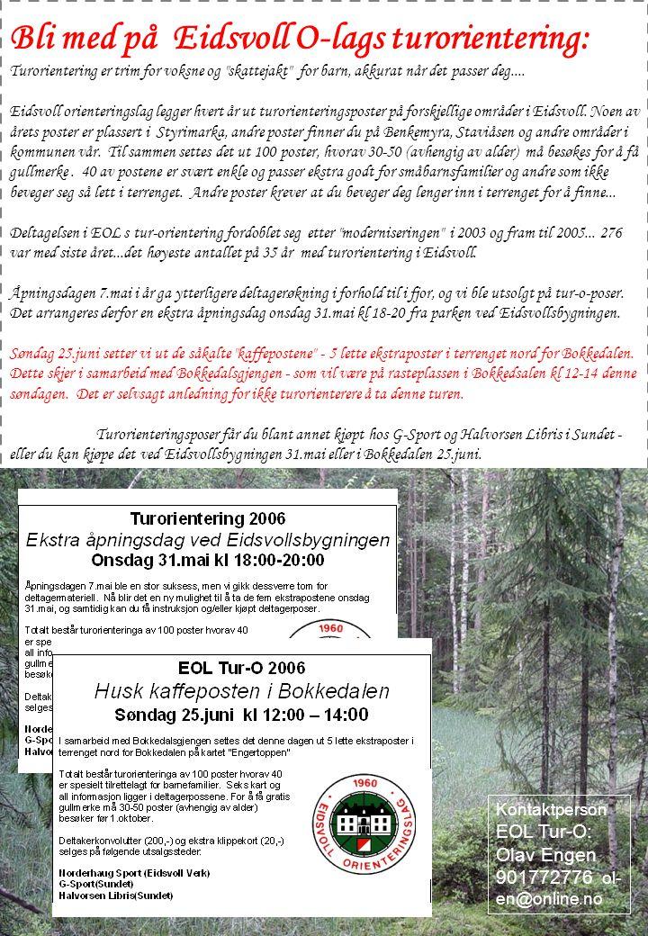 Bli med på Eidsvoll O-lags turorientering: Turorientering er trim for voksne og